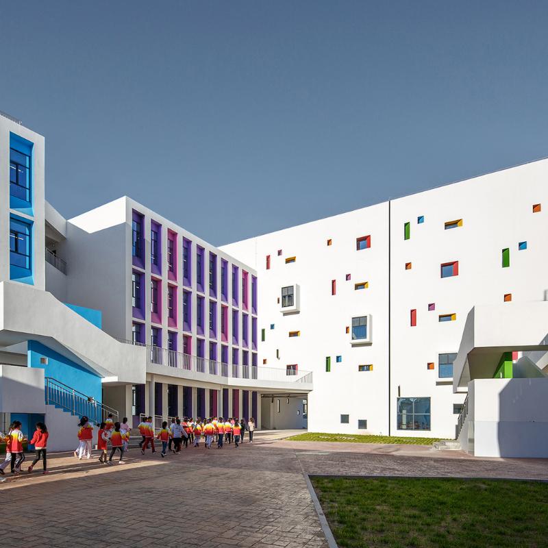 Yulin Gaoxin No.3 Primary School, ARCHITECTURAL DESIGN & RESEARCH INSTITUTE OF TSINGHUA UNIVERSITY CO., LTD.