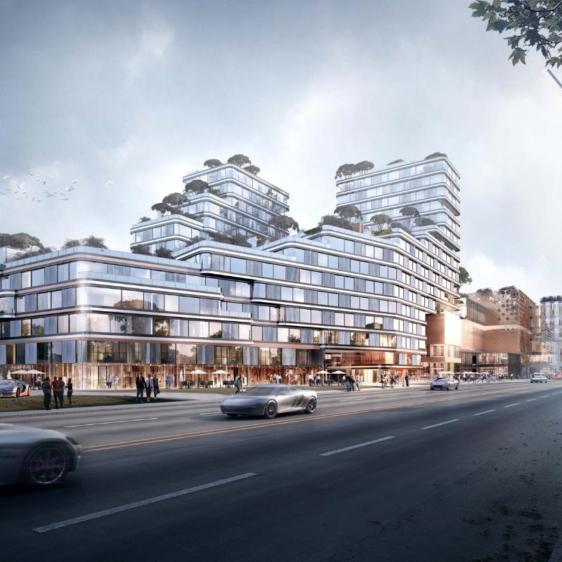 Shanghai Jinguang Road Commercial Complex, Lacime Architects